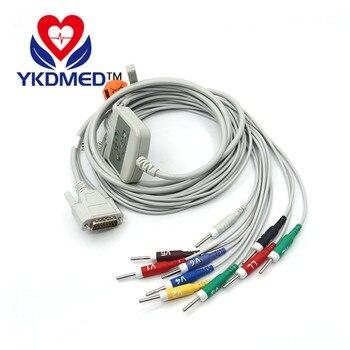 Nihon Kohden 10 lead EKG cable, compatible with Cardiofac 6353 ekg machine,AHA,Banana 4.0