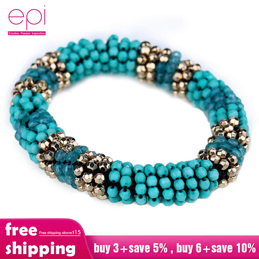 Trendy Jewelry bracelet 2019 Fashion Candy Color Multilayer Charm Bohemian Beads Beaded Bangle For Women Party Wristband Gifts