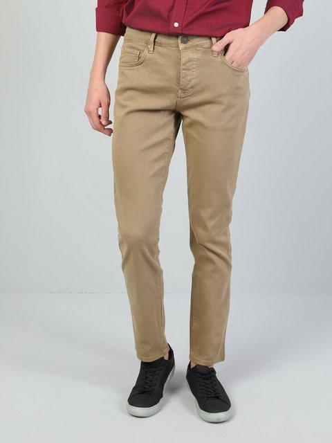 Colins Men 44 Karl Straight Fit Beıge High Rise Straight LegPantsmen's trousers men's pants Trousers for men men pants, CL1006465