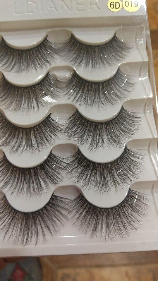 5pairs Natural False Eyelashes Mink Eye Lash Thick Long Lashes Makeup Beauty Extension Silk Eyelashes Tools reviews №1 422536