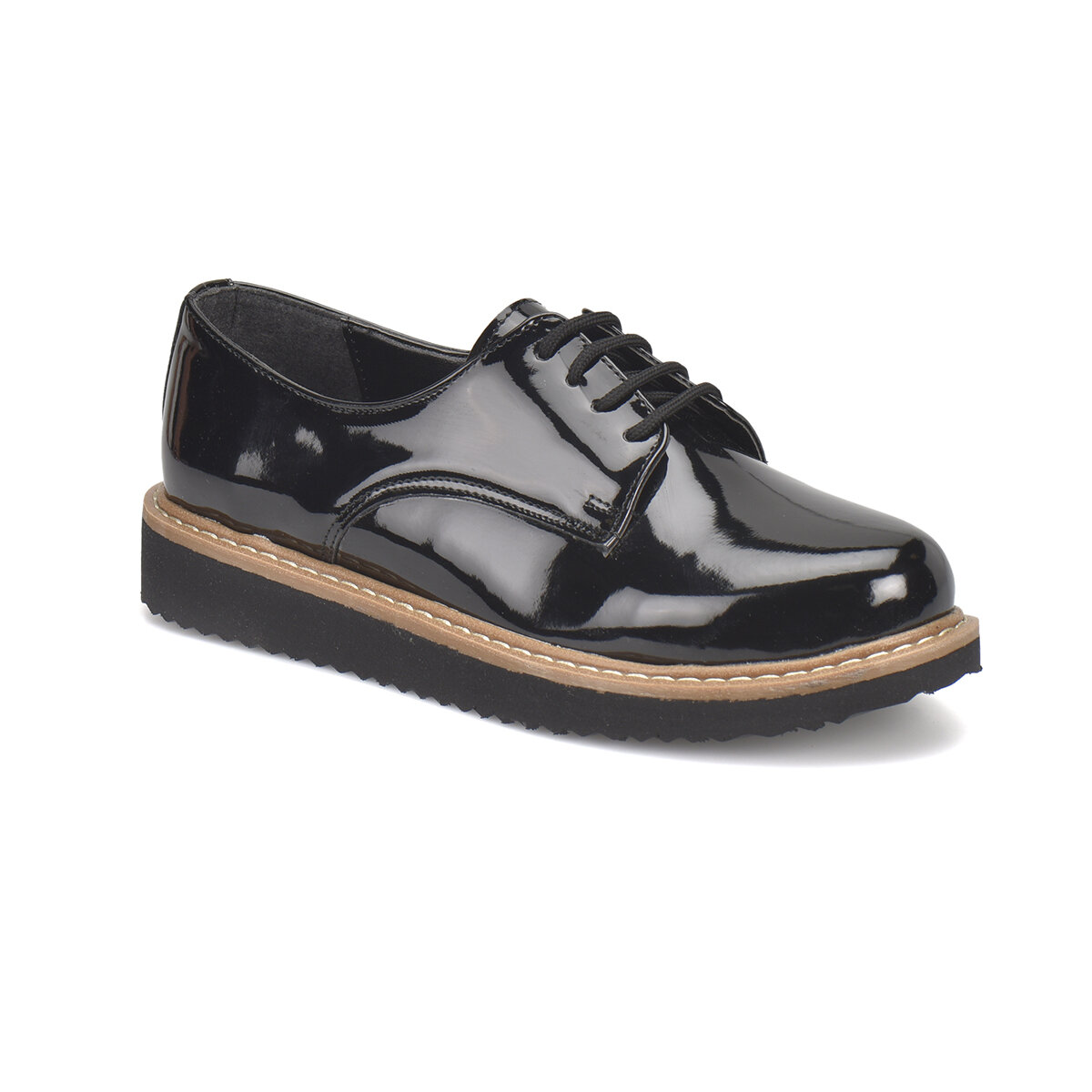 FLO N1622 Black Women Oxford Shoes Miss F