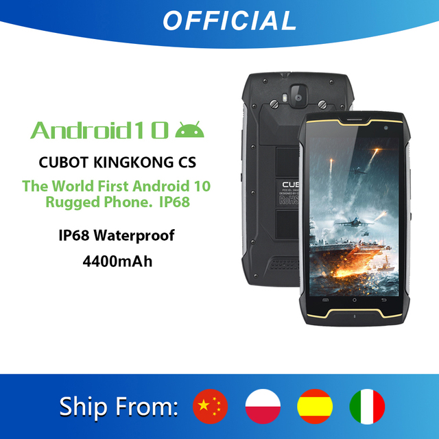Cubot KingKong CS Android 10 IP68 Waterproof Smartphone 5 Inch 4400mAh Face ID Dual SIM Card Telephone Rugged Phone King Kong CS