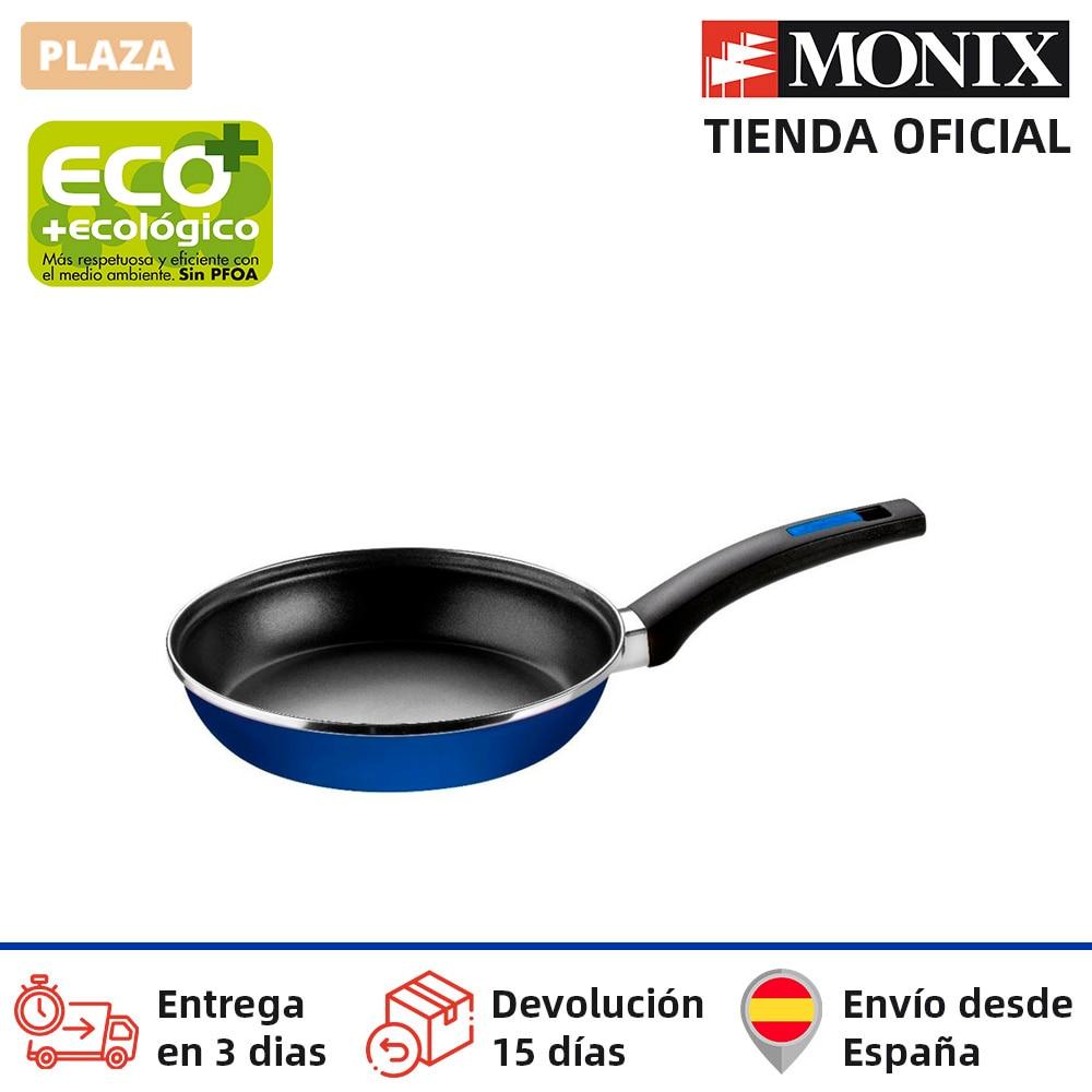 Monix cobalt-poêle en acier émaillé avec téflon antiadhésif®Classique. 18 à 28 cm. Cuisinière à gaz vitrocéramique à Induction