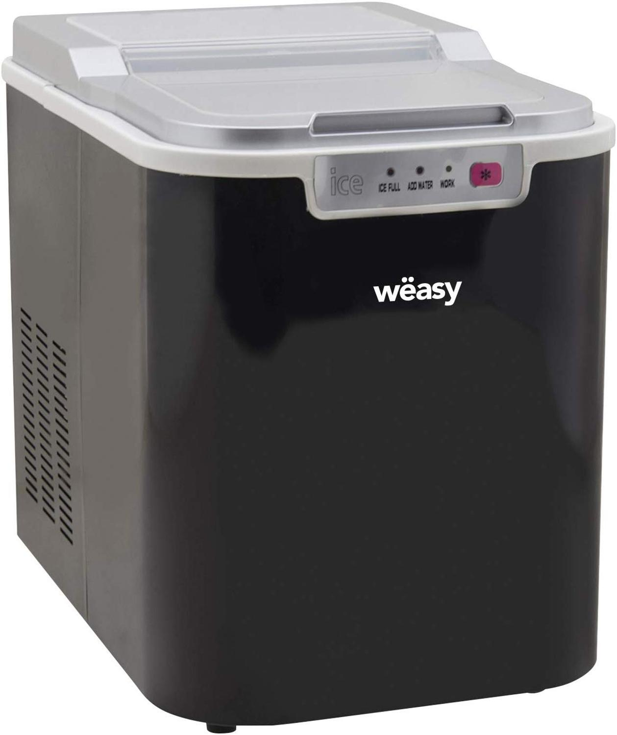 Ice Machine Wëasy KW12, 12 Kg In 24 H, 1 Size Ice Automatic, Electrics, Compact, Portable No Installation
