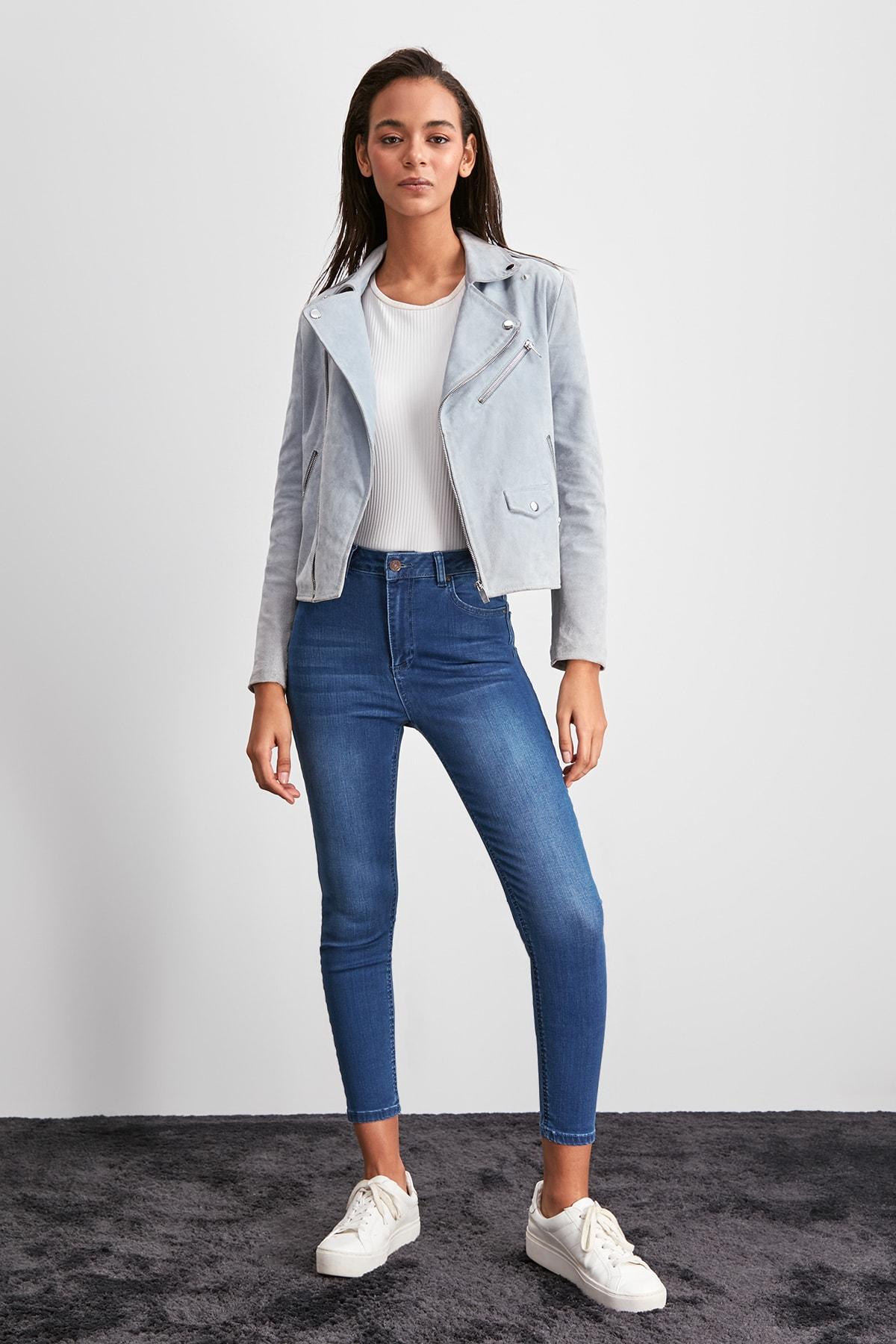 Trendyol Normal Waist Skinny Jeans TWOAW20JE0381
