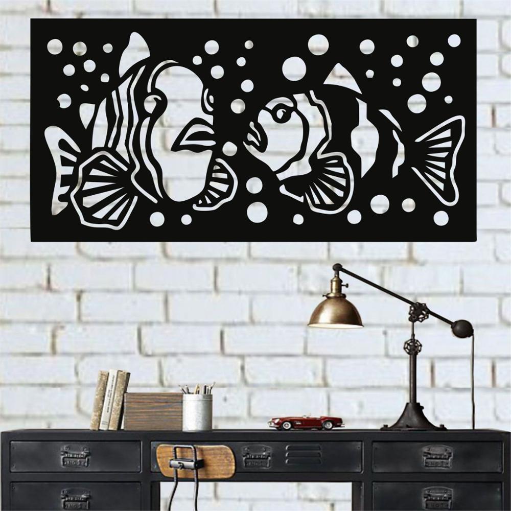 Металлические настенные искусства, металлические рыбки декор, металлические стены декор, украшение дома, металлический знак, Морской Декор
