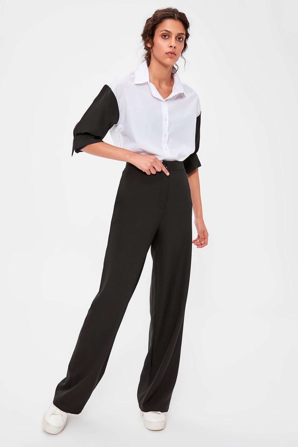 Trendyol Black Flare Pants TWOAW20PL0244