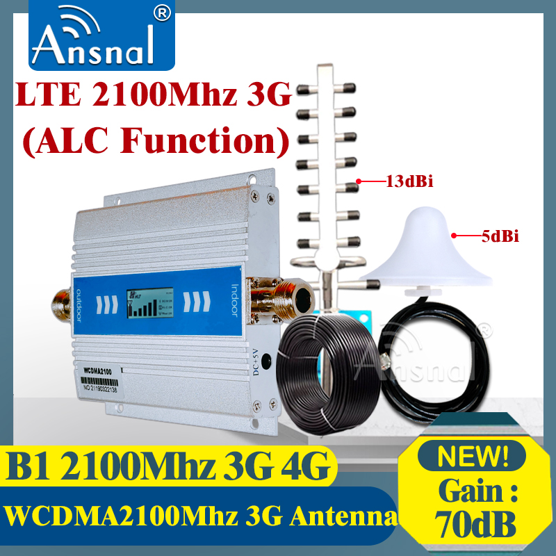 3G WCDMA 2100MHz MobilePhone Signal Booster UMTS 2100MHz 3G GSM Signal Repeater 4G CellPhone Cellular Amplifier 3g4gYagi Antenna