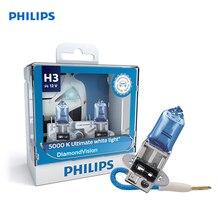 For H3 12 V-55 W (PK22s) (White cold. light-голуб. оттен.) Diamond Vision (2 pcs) 12336DVS2