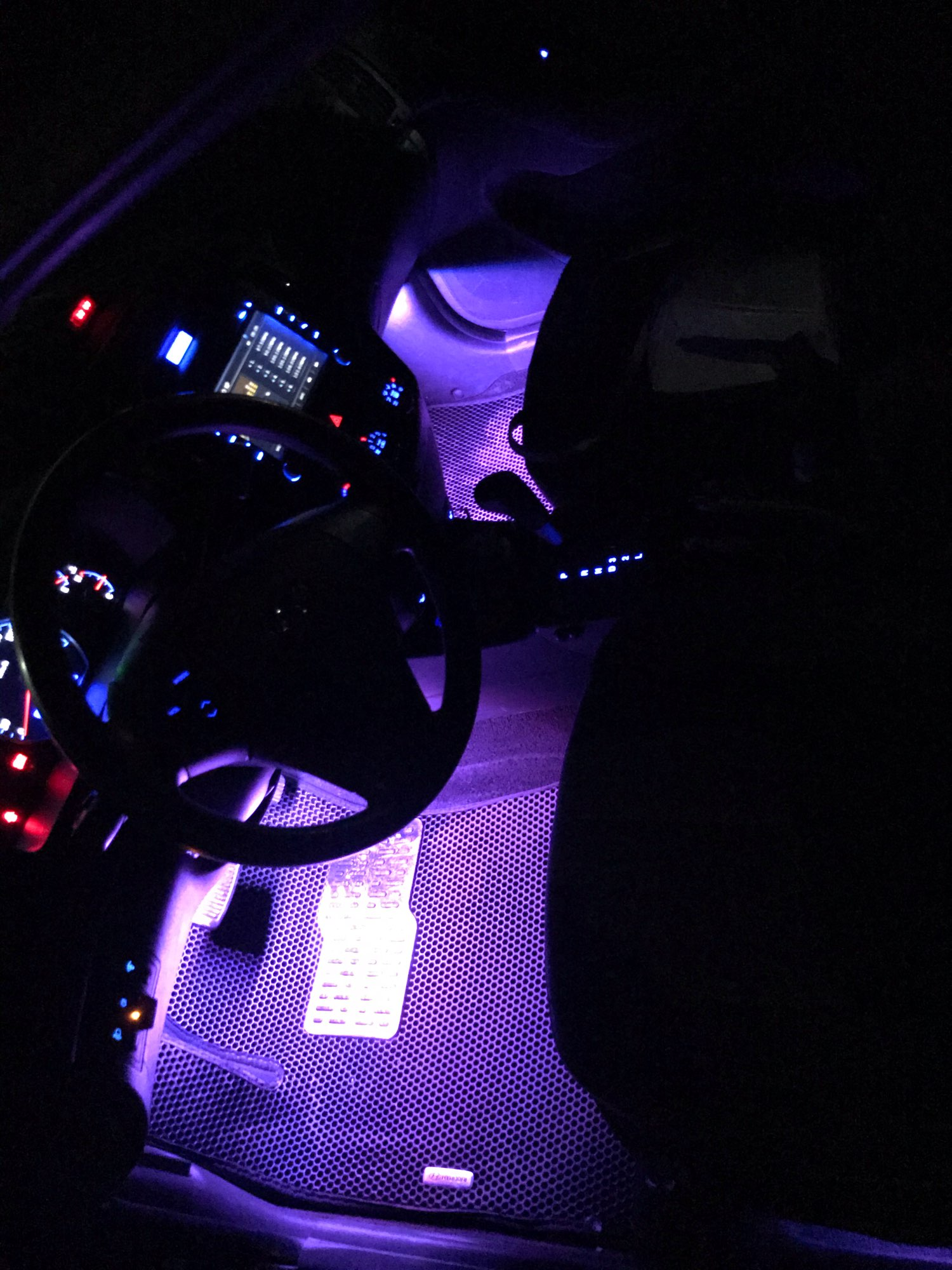 The last day-Car Interior Ambient Lights(Contains four light bars) - notabshop photo review