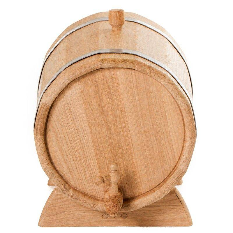 Oak Barrel (jug) For Storing And Infusing Drinks: Moonshine, Wine, Whiskey, Cognac 10 Liters. Medium Firing