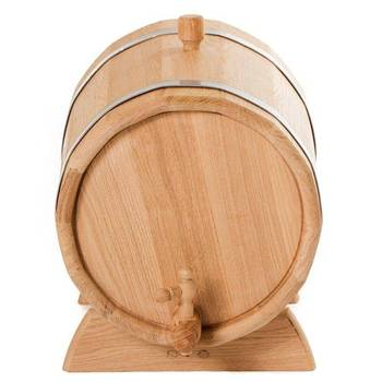 Oak Barrel (jug) For Storing And Infusing Drinks: Moonshine, Wine, Whiskey, Cognac 10 Liters. Medium Firing