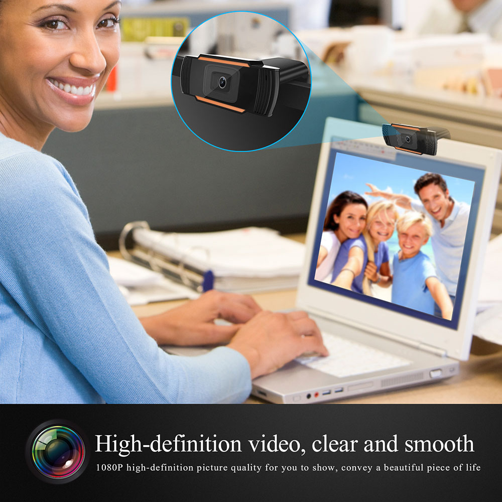 HD 1080P 720P Webcam Mini Computer PC WebCam with Microphone Rotatable Cameras for Live Broadcast Video Calling Conference Work enlarge