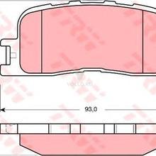 Колодки тормозные дисковые задн TOYOTA: CAMRY 96-01, CAMRY 01