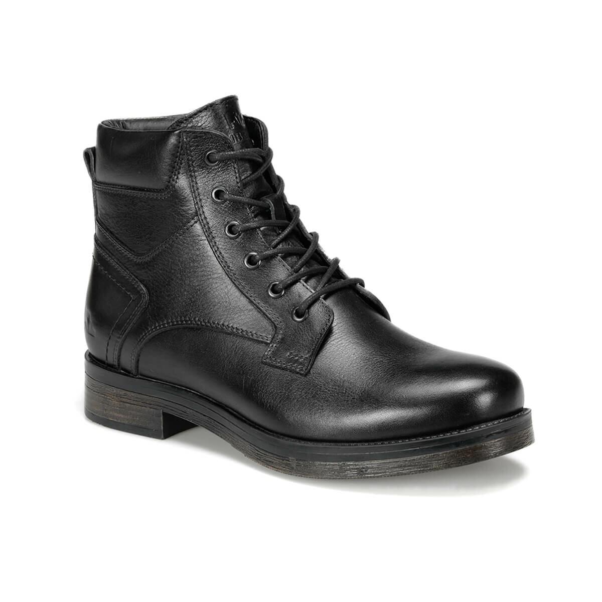 FLO NIKO 9PR Black Men Boots LUMBERJACK