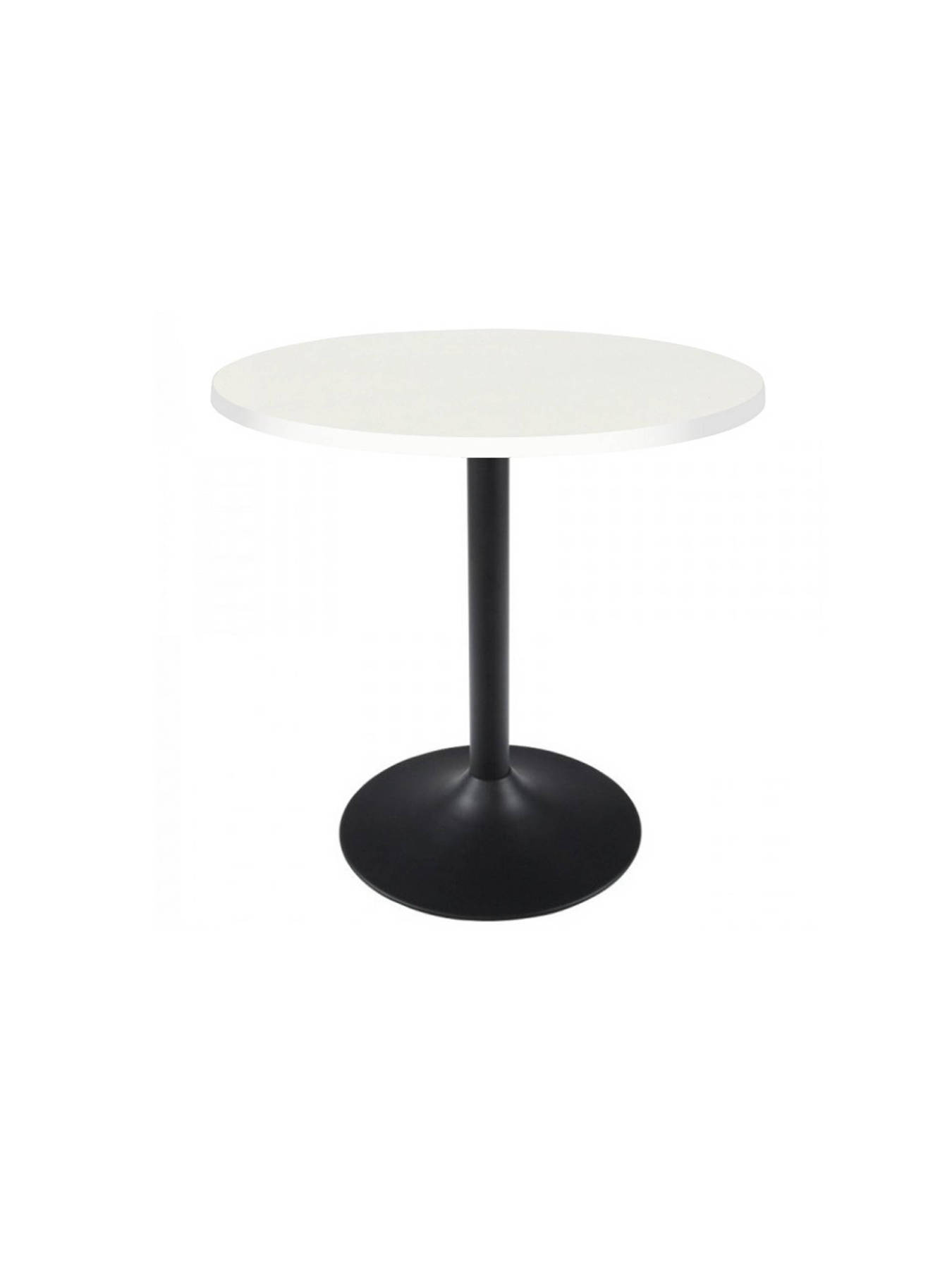 Table Vending With Structure And Base In Black Color-Board The Table In Melamine White Color. TAPHOLE AND CURLED M