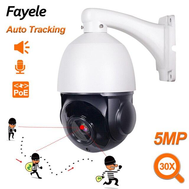 IP66 Esterna del CCTV di Sicurezza POE 5MP Auto Tracking PTZ Macchina Fotografica 2MP Persona Umanoide di Rilevamento H.265 P2P IP Della Macchina Fotografica di IR 30X ZOOM ONVIF