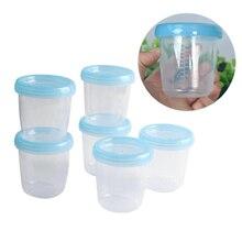 180ml Baby Food Storage Cup Breast Milk Fruit Juice Storage Seal Preservation Box Wide