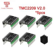 Motor paso a paso MKS TMC2209 V2.0, piezas de impresora 3d, 2.5A, UART, ultra silencioso, para SKR V1.3, SGen Gen L Robin Nano, 5 uds.