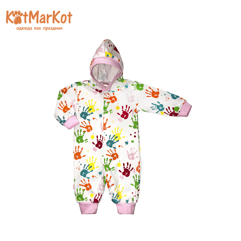 Rompers Kotmarkot 6695р overalls for newborn cat sotmarkets sandpiper baby clothes romper Cotton cat sotmarket Baby Girls Print