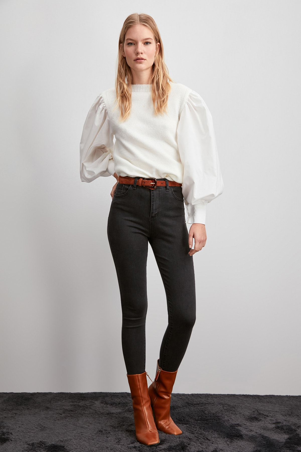 Trendyol High Waist Skinny Jeans TWOAW20JE0364