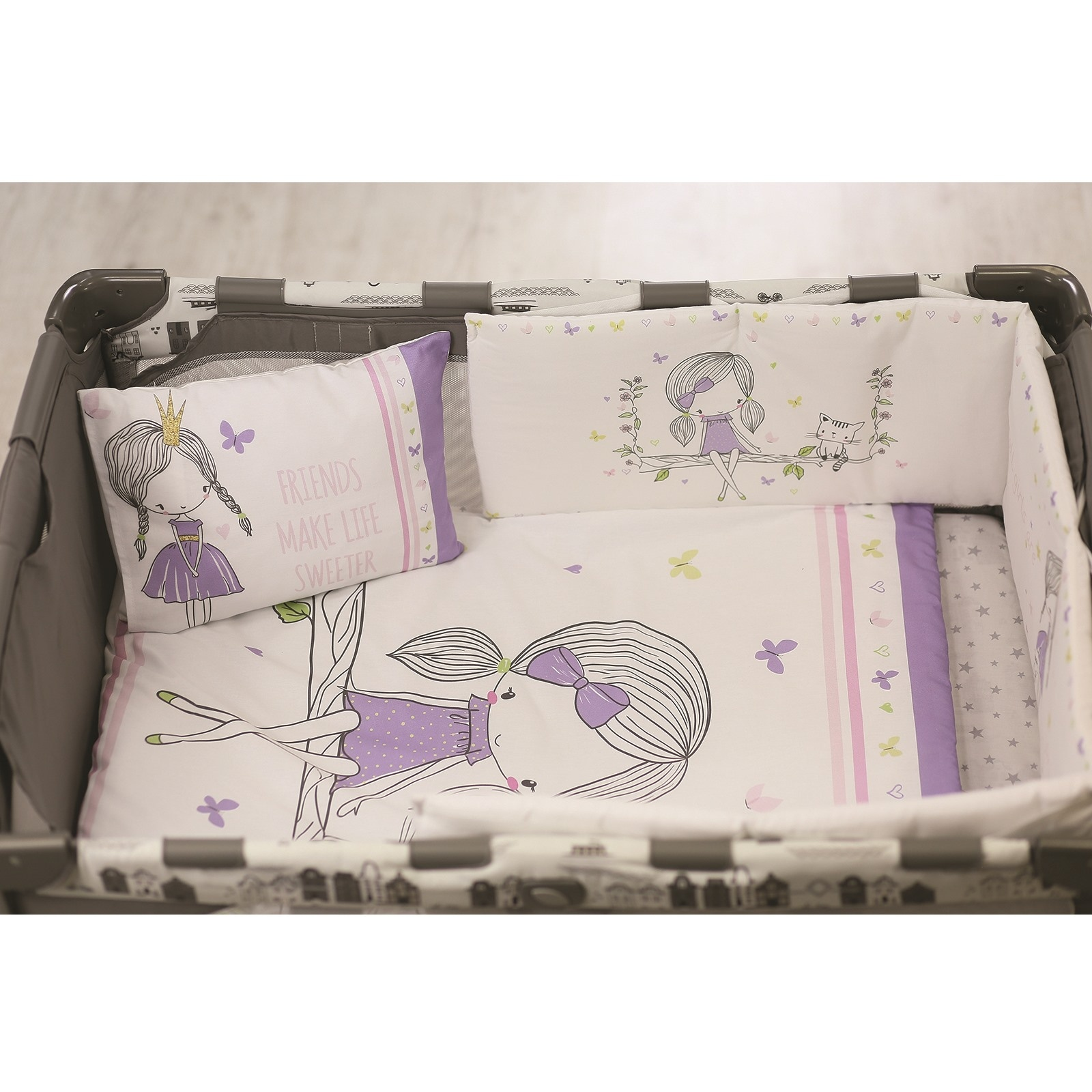 Ebebek Apolena Baby All Girls Bed Edge Protection 30x180 Cm