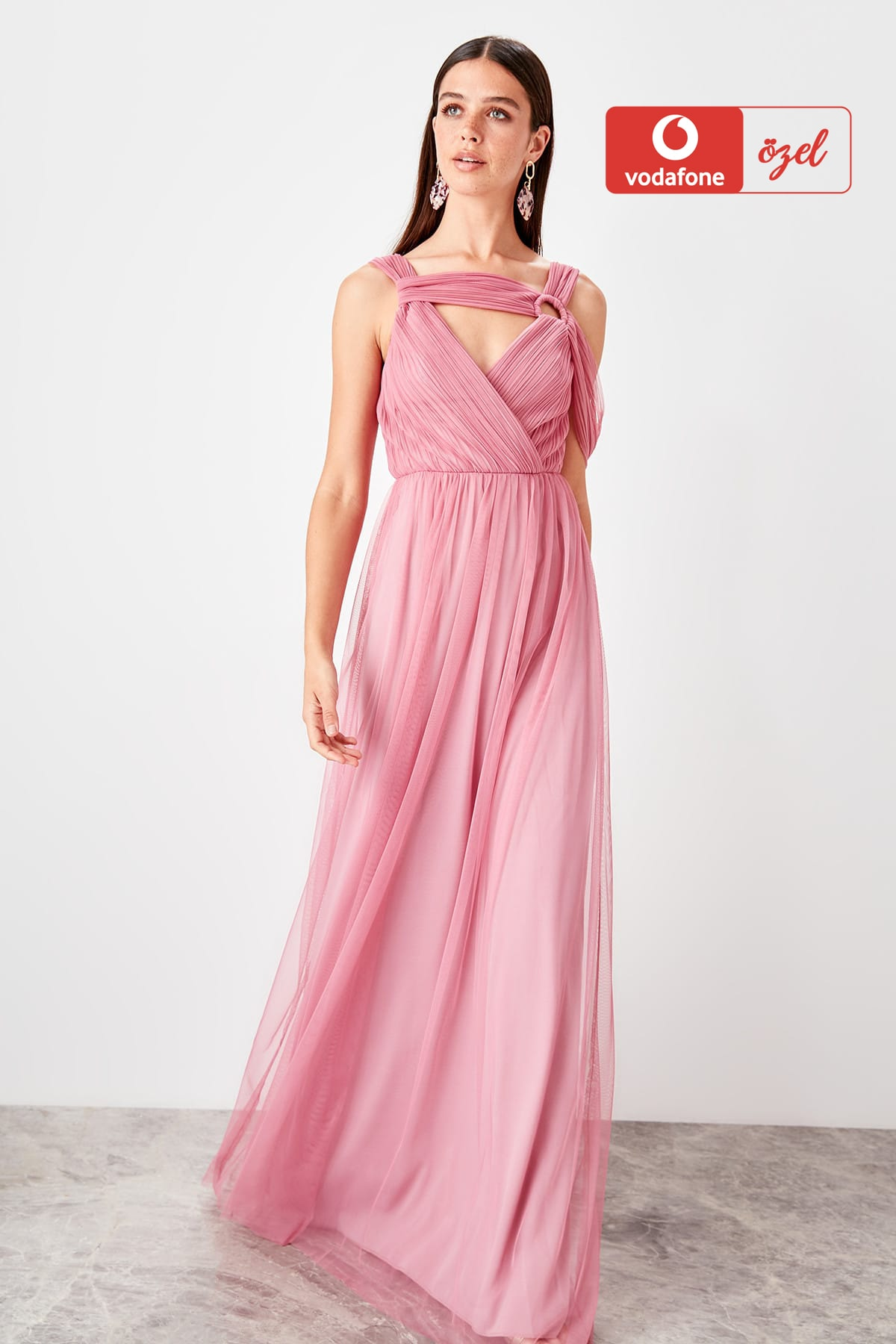 Trendyol Collar Detail Evening Dress Dress TPRSS19VF0035