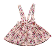 Sweet Toddler Kids Baby Girls Skirt Floral Princess Bib Straps Suspenders Tutu Skirts Party Pageant Fashion Outfits Clothes 0-4Y