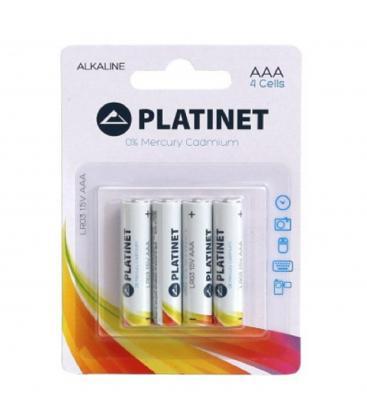 Pilas Platinet bateria original Alcalina Tipo AAA LR03 en blister 4X Unidades ¡Nuevo! pendientes de semental CZ AAA LUOTEEMI, sencillos y populares, árbol de plantas, piedra clara negra, uno grande y otro, para fiestas de mujeres