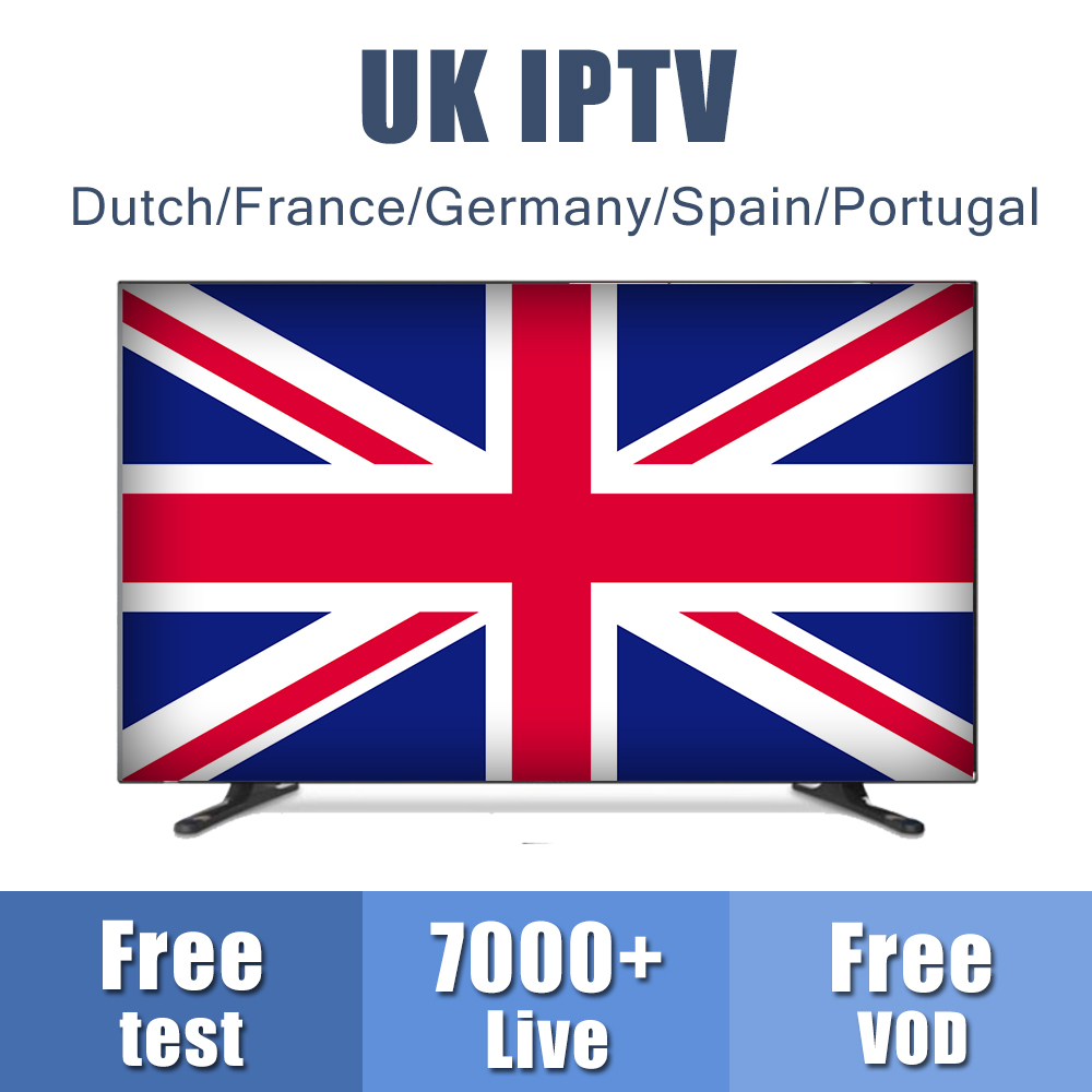 Europe UK IPTV Subscription For Android M3u8 Enigma2 Mag Box UK/Dutch/French/Germany/Spain Channels Free VOD Smarters IPTV Code