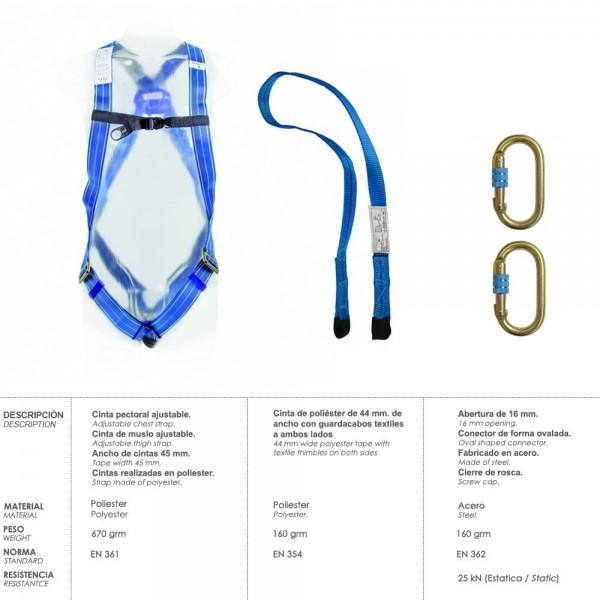 Harness Anticaidas Security Kit N ° 1 (4 Pcs) EN361