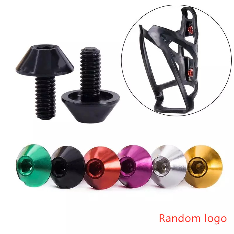 Bicycle Water Bottle Cage Holder Screw Bolts Durable Colorful Bike Accessory HU