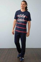 POLO de Estados Unidos ASN. Conjunto de pijamas Azul Marino