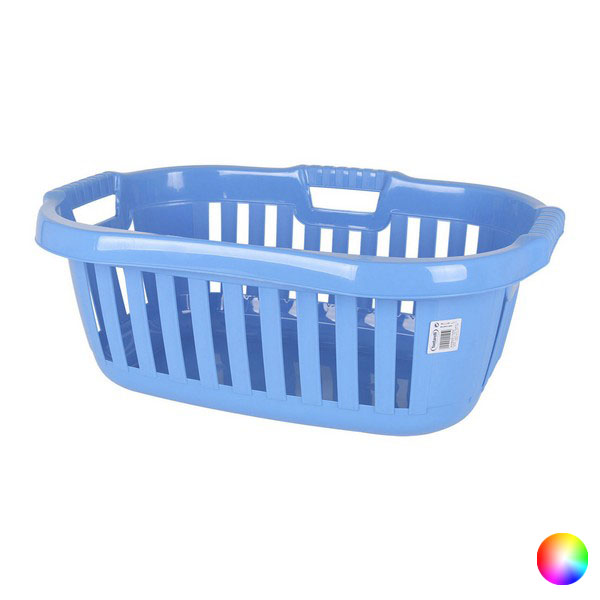 Ev ve Bahçe'ten Katlanabilir Depolama Çantaları'de Çamaşır sepeti Tontarelli 50 L plastik dikdörtgen (66X44x25 cm) title=