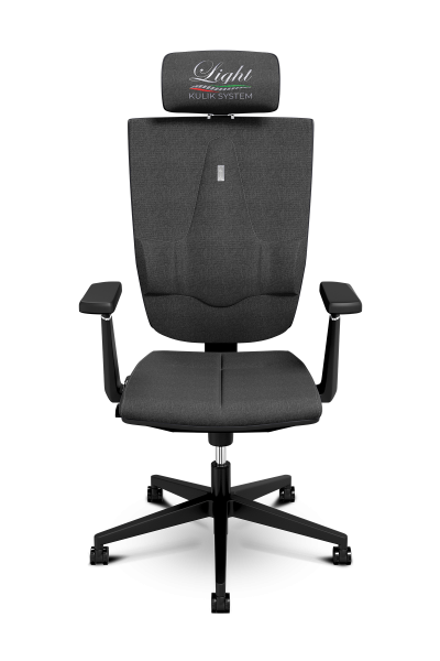 Office Chair KULIK SYSTEM SPACE Black Computer Chair Relief And Comfort For The Back 5 Zones Control Spine