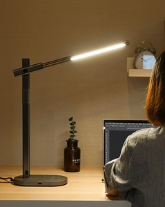 Image 4 - USB יציאת תשלום מודרני LED מנורת שולחן עם QI אלחוטי תשלום טלפון 5 צבע טמפרטורת 6 רמת בהירות משרד עבודה אור