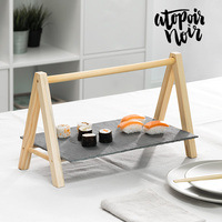 Atopoir Noir Slate Tray with Easel|Dishes & Plates|   -