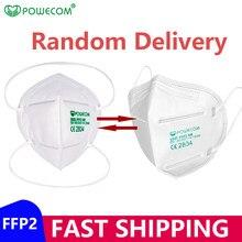 Powecom-mascarilla protectora FFP2 con filtro PM2.5, máscara respirador fpp2 con filtración del 9501, CE 95% mascarillas ffp2 reutilizable mascarilla higienica adulto mascarillas higienicas homologadas españa