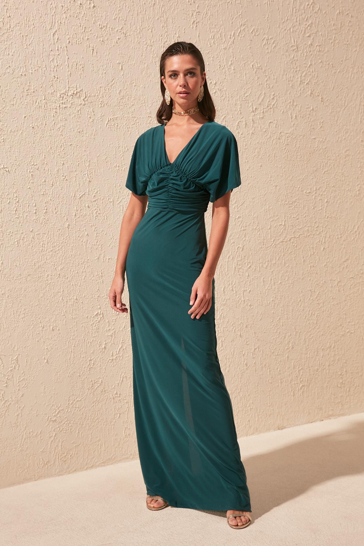 Trendyol Drape Detail Evening & Prom Gown TPRSS20AE0047