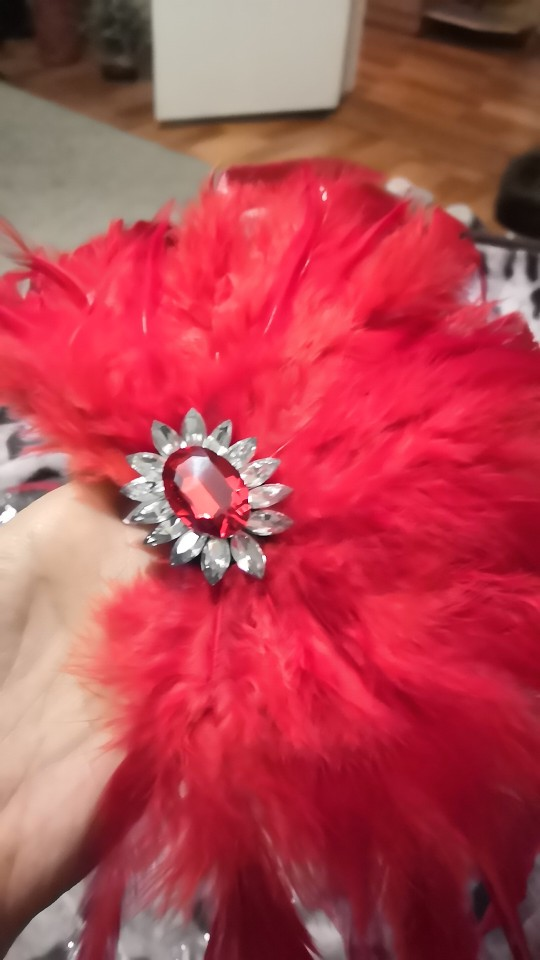 Halloween gift pin for man women suit banquet Brooch Jewelry luxury red feather crystal corsage wedding accessories supplier