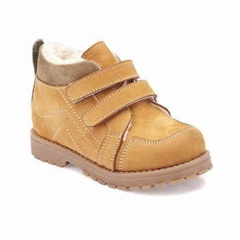 FLO 82 510548 B żółte męskie buty dziecięce Polaris tanie i dobre opinie ALLIGATOR Korka Chłopcy