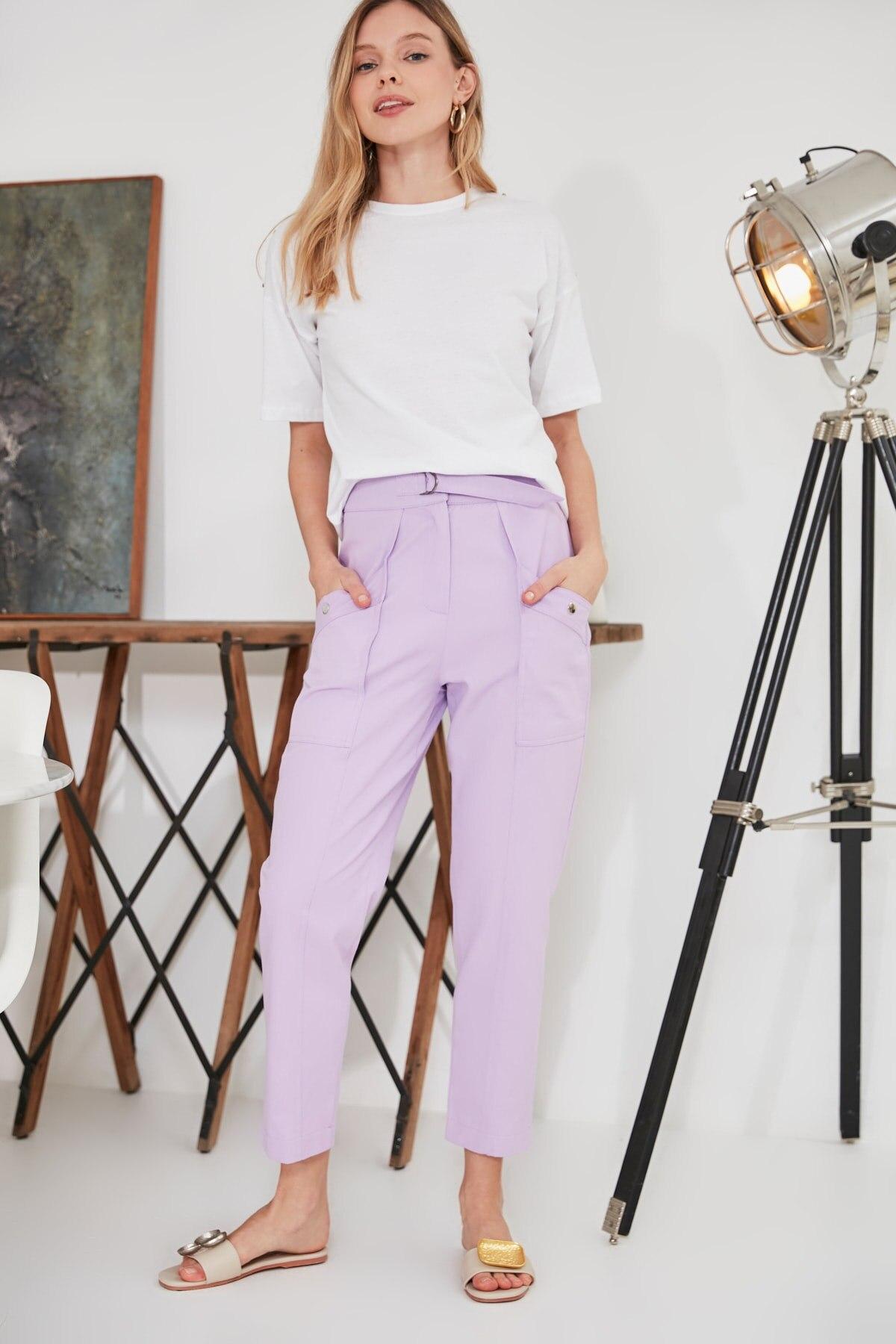 Trendyol Lacing Detailed Pants TWOSS20PL0373
