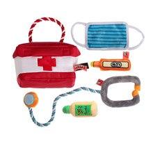 Dog Toy Set Q-MONSTER Plush Squeak Chew Toys Medicine Cabinet Makeup Bag Cute Interactive Puzzle Pet Toys