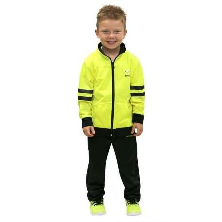 CHANDAL SOFTEE WEST POINT INFANTIL - 14 AÑOS - COLOR AMARILLO FLUOR Y NEGRO