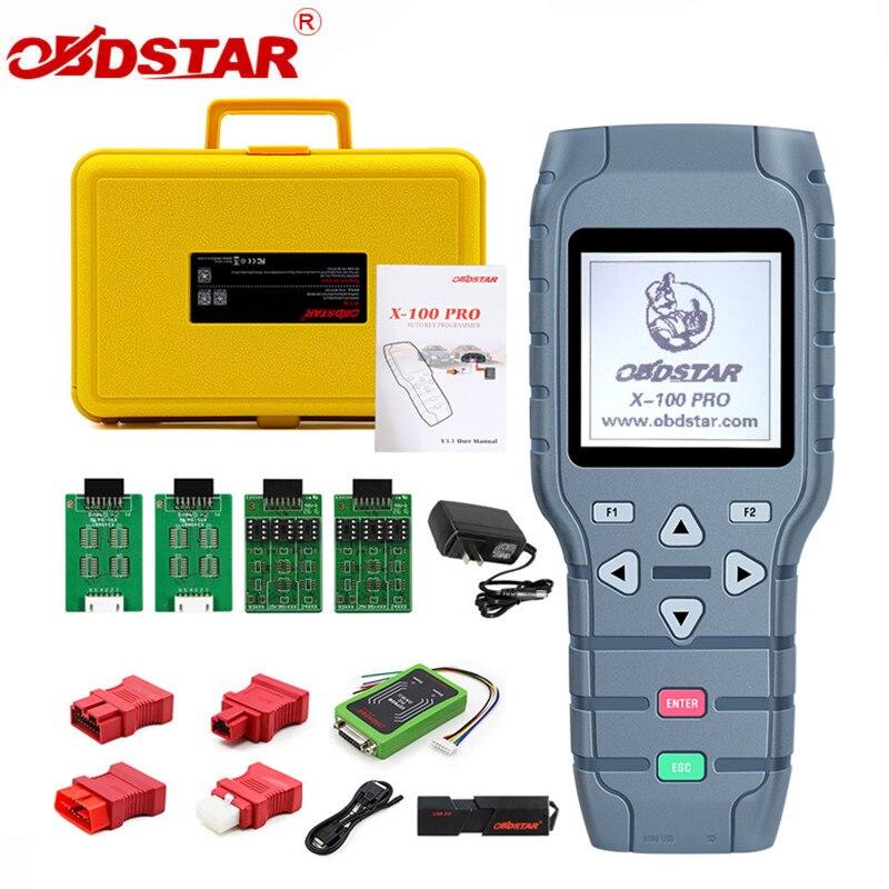 OBDSTAR X100 X-100 PRO Auto schlüssel programmierer (C + D + E) mit EEPROM Adapter IMMO Entfernungsmesser-korrektur OBD Software Werkzeug