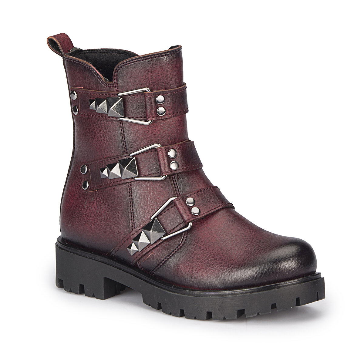 FLO DUKE Burgundy Female Child Boots PINKSTEP