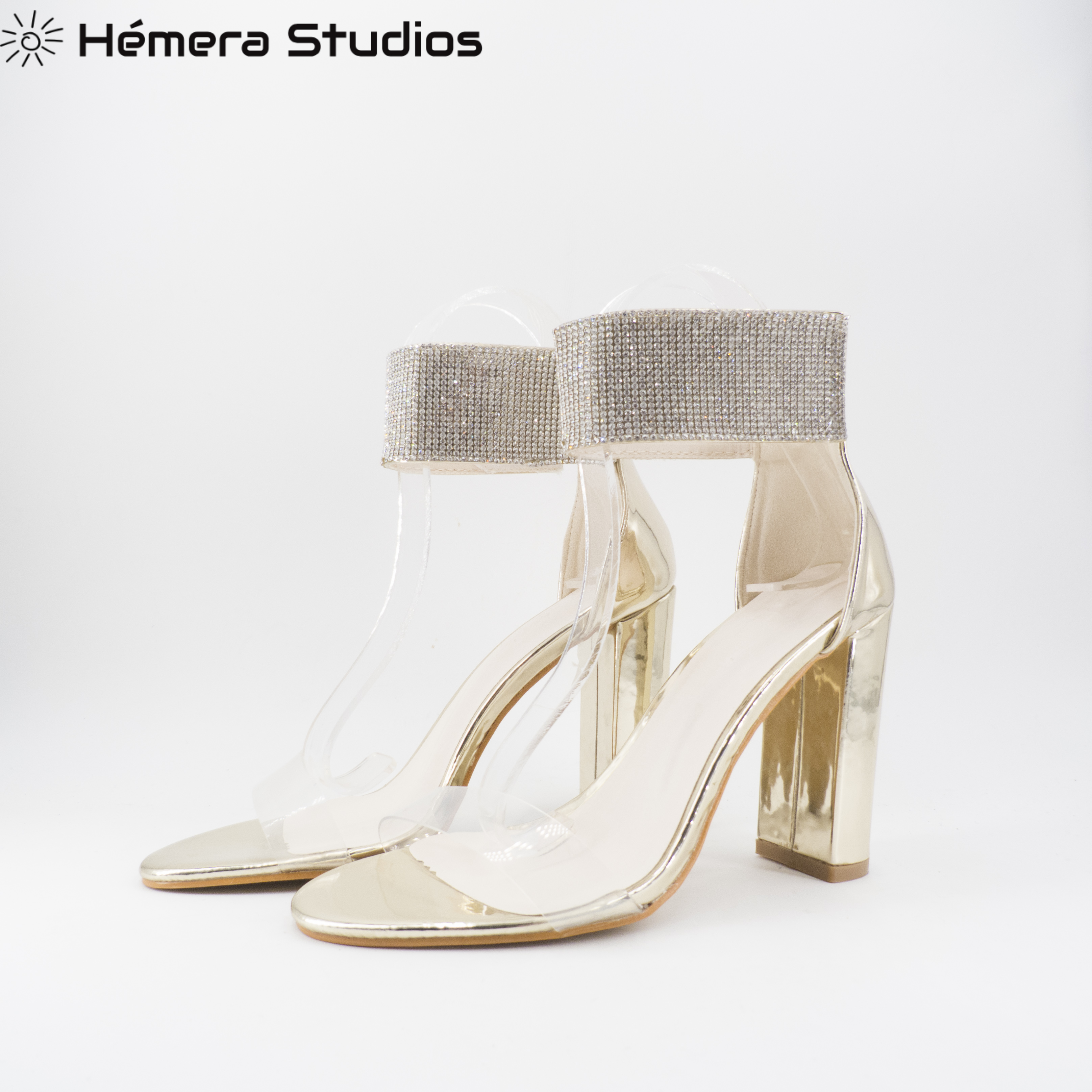 Shoe High-heeled Sexy PVC Shoes Woman Elegant With Fat Heel Wedding Party Gift