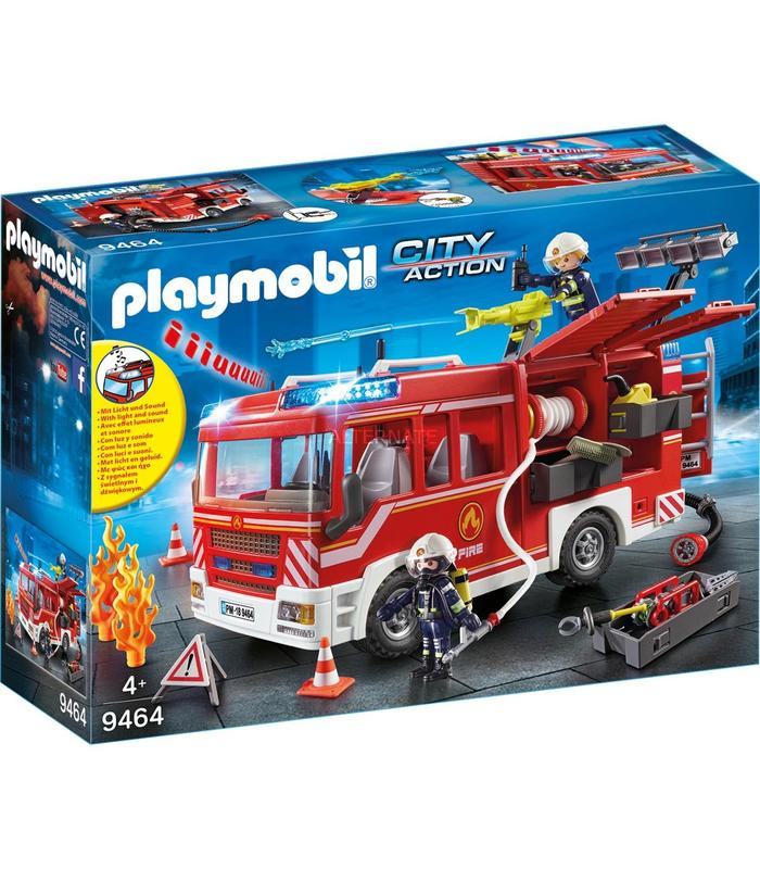 9464 Playmobil Fire Truck Toy Store Articles Created Handbook