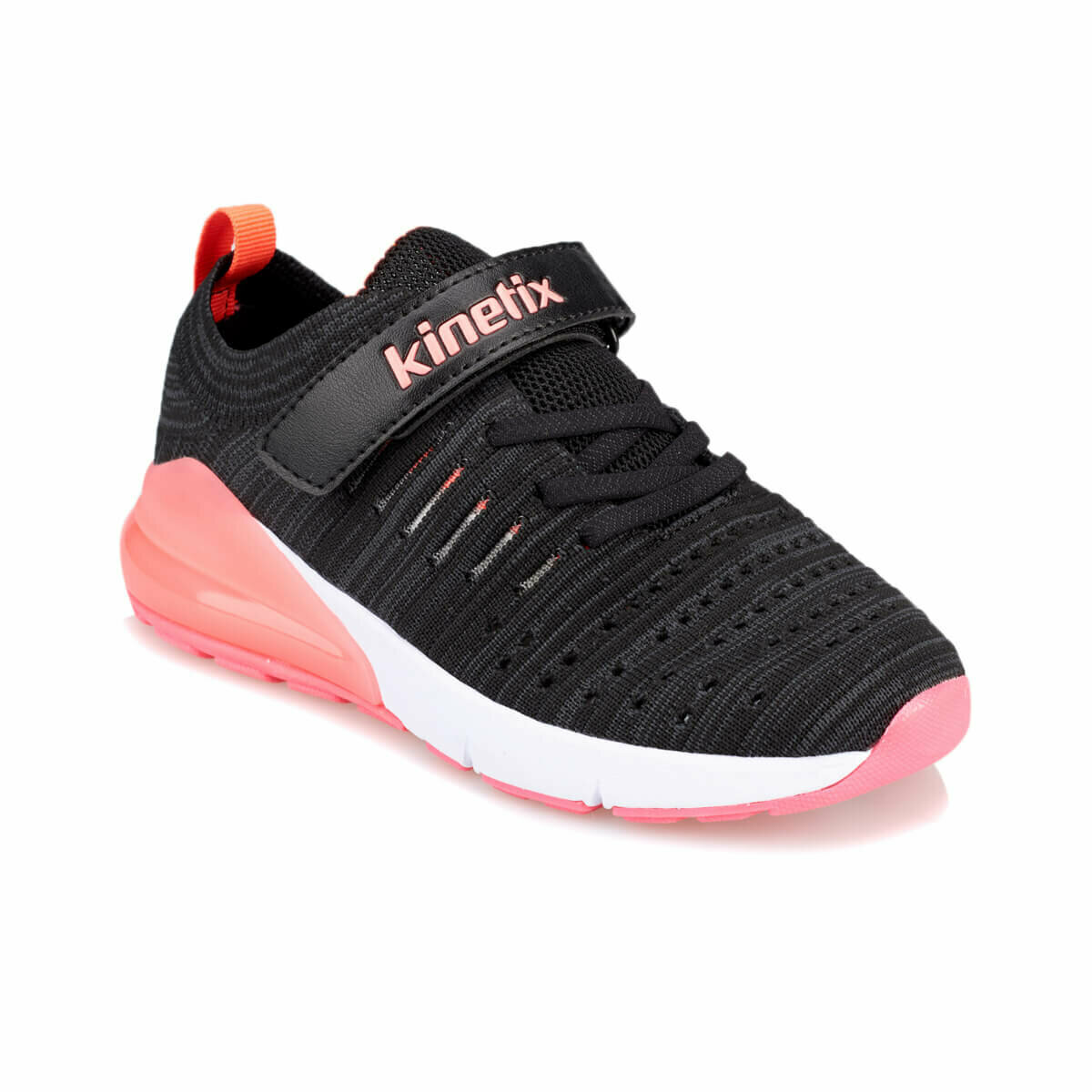 FLO IZUMI J Black Female Child Running Shoes KINETIX