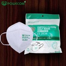 Powecom – masque facial FFP2 avec 5 couches de protection, réutilisable, avec respirateur et filtre à 95%
